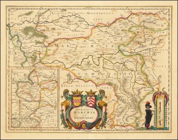 18-Germany Map By Willem Janszoon Blaeu