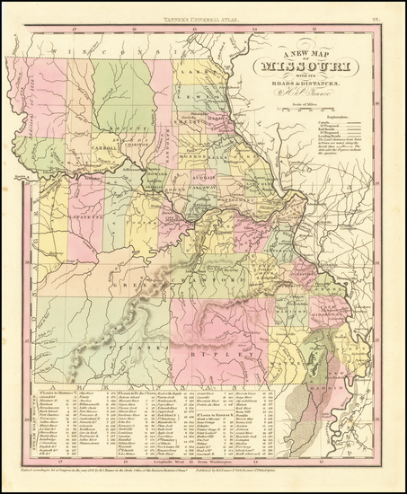 70-Missouri Map By Henry Schenk Tanner