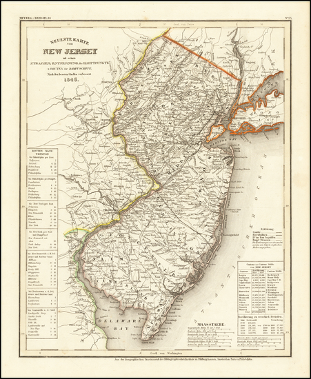 71-New Jersey Map By Joseph Meyer