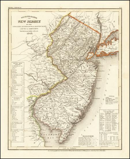 68-New Jersey Map By Joseph Meyer