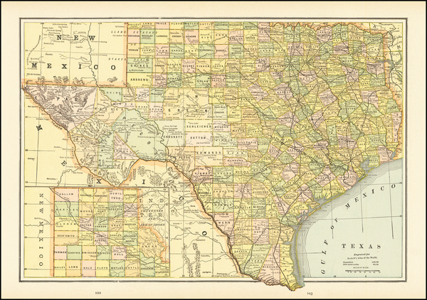 23-Texas Map By Gaskell
