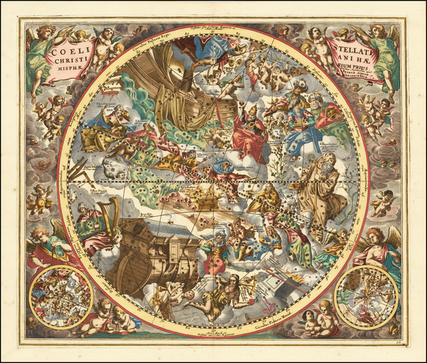 12-Celestial Maps Map By Andreas Cellarius