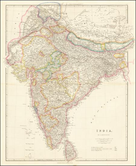 45-India Map By John Arrowsmith