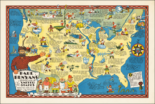 100-United States and Pictorial Maps Map By R. D. Handy