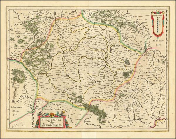 77-Germany Map By Willem Janszoon Blaeu