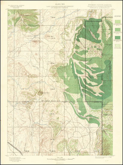 76-South Dakota and Wyoming Map By U.S. Geological Survey