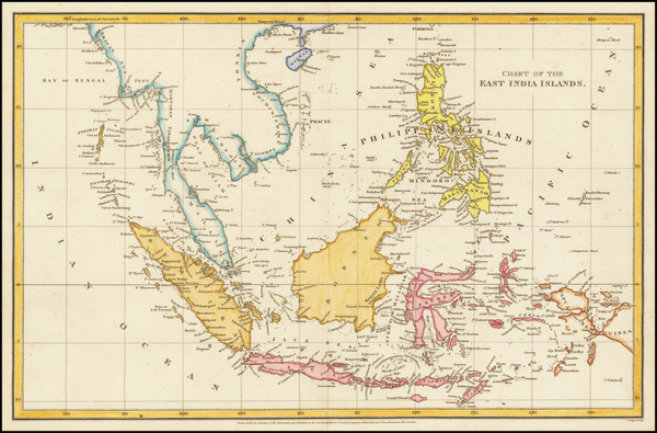 57-Southeast Asia, Philippines, Indonesia and Malaysia Map By Aaron Arrowsmith