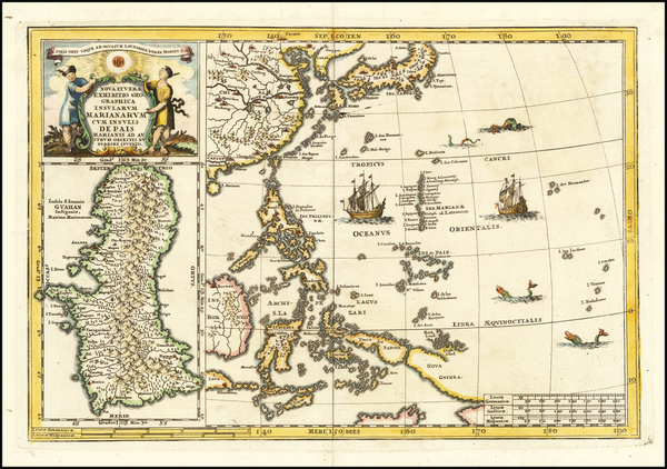 7-China, Japan, Korea, Philippines, Other Islands and Other Pacific Islands Map By Heinrich Scher