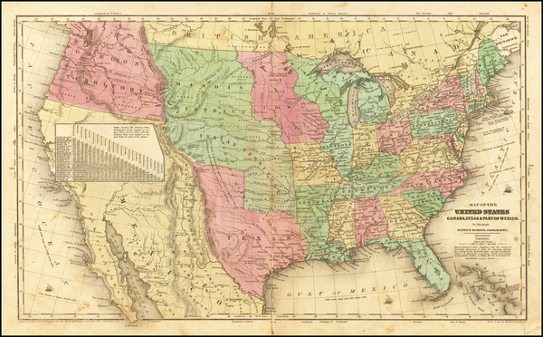 83-United States and Texas Map By Jesse Olney