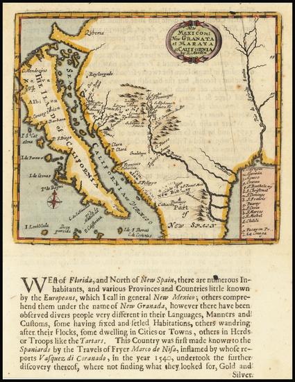 20-Texas, Southwest, California and California as an Island Map By Robert Morden
