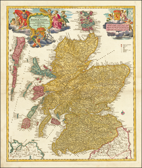 41-Scotland Map By Johann Baptist Homann