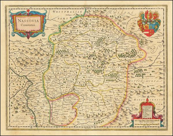 51-Germany Map By Willem Janszoon Blaeu