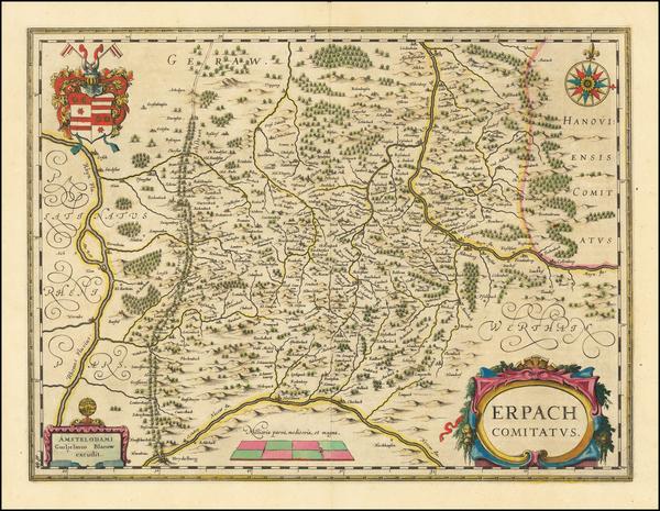 90-Mitteldeutschland Map By Willem Janszoon Blaeu