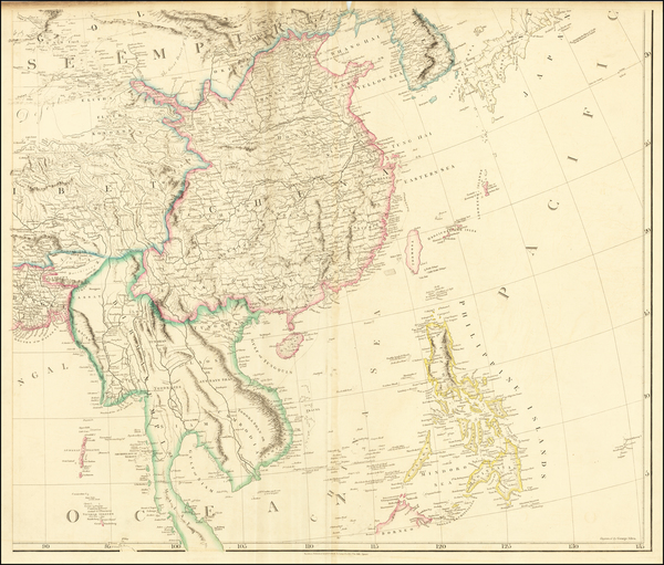 85-China, Korea, Southeast Asia and Philippines Map By Aaron Arrowsmith