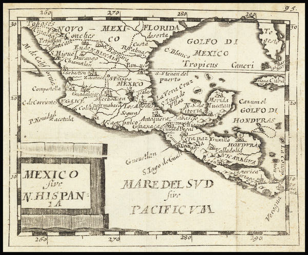 55-Mexico Map By Pierre Du Val