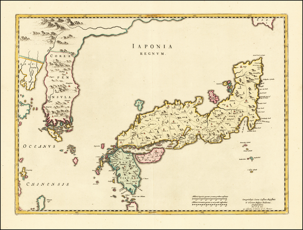 23-Japan and Korea Map By Johannes Blaeu