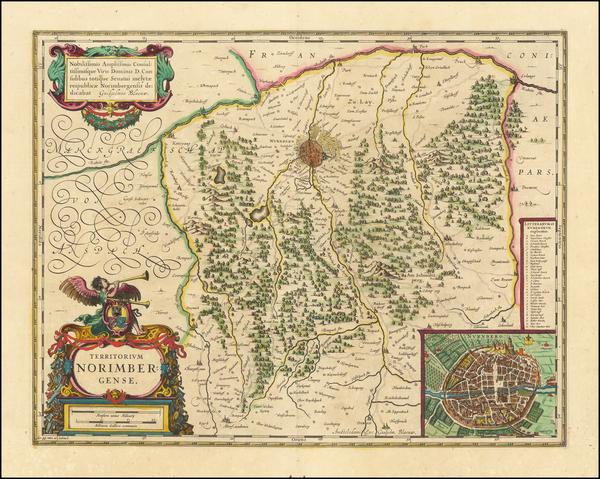 90-Germany Map By Willem Janszoon Blaeu
