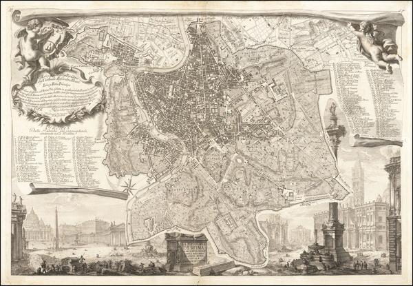 22-Rome Map By Giovanni Battista Nolli  &  Giovanni Battista Piranesi