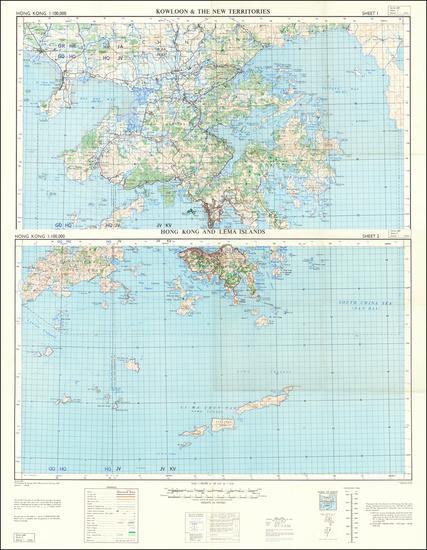 72-Hong Kong Map By War Office