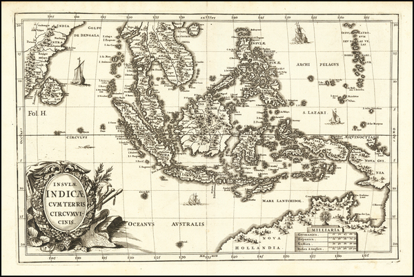 90-Southeast Asia, Philippines and Australia Map By Heinrich Scherer