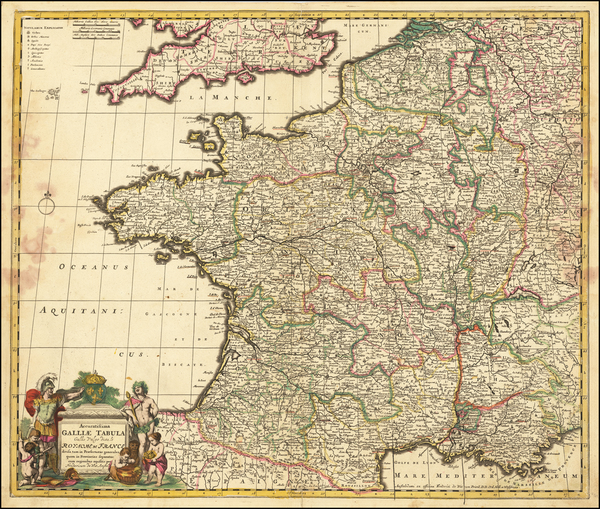 10-France Map By Frederick De Wit