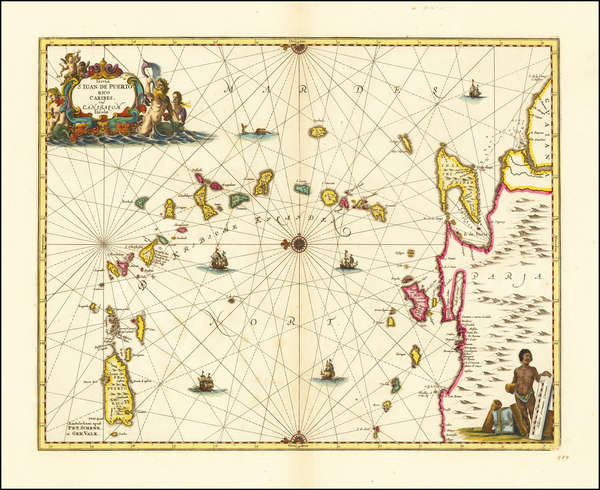 4-Caribbean, Puerto Rico and Other Islands Map By Jan Jansson