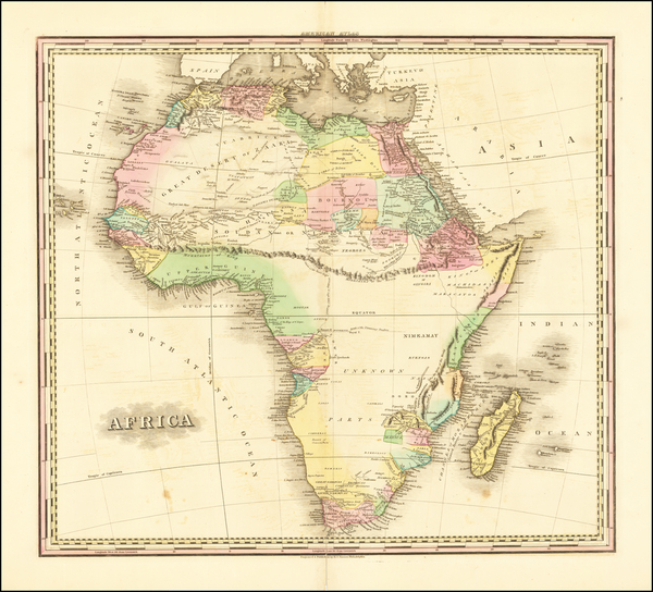 60-Africa Map By Henry Schenk Tanner