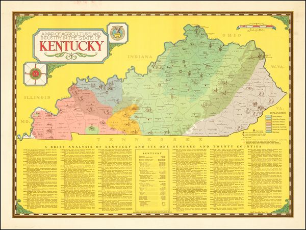 32-Kentucky and Pictorial Maps Map By Karl Smith