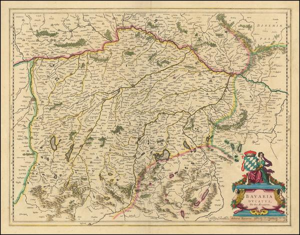 65-Germany Map By Willem Janszoon Blaeu