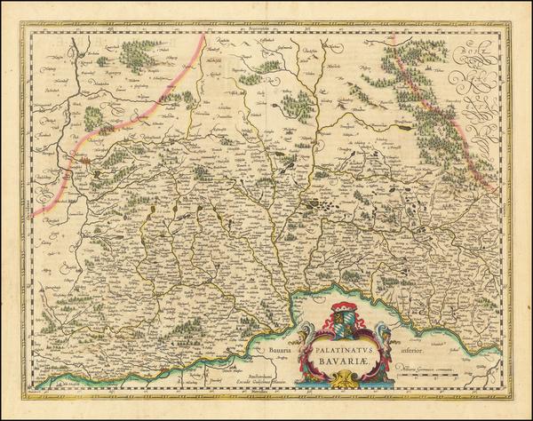 3-Germany Map By Willem Janszoon Blaeu