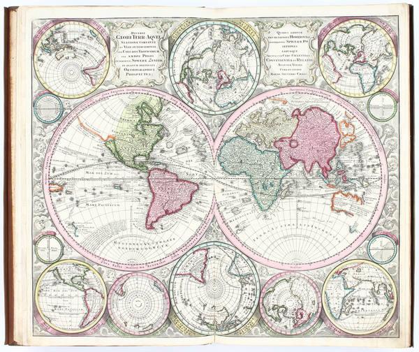 64-Atlases Map By Matthaus Seutter