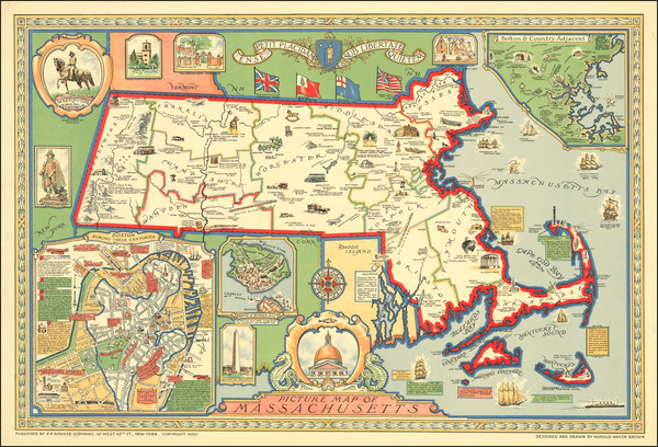61-Massachusetts Map By Harold Haven Brown