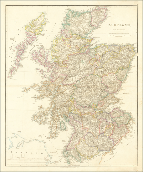 57-Scotland Map By John Arrowsmith