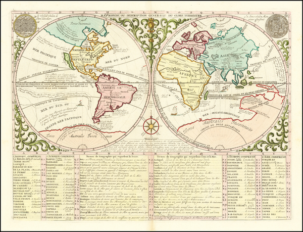 4-World and California as an Island Map By Henri Chatelain