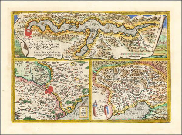 12-Northern Italy Map By Abraham Ortelius