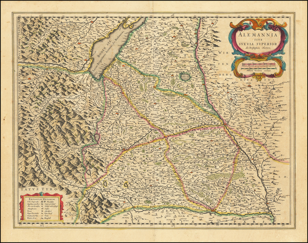 88-Germany Map By Willem Janszoon Blaeu