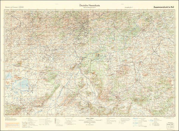 33-North Africa and World War II Map By General Staff of the German Army