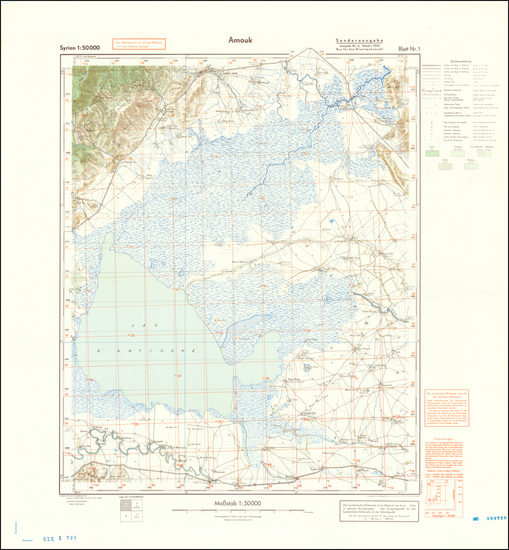 60-Middle East and World War II Map By General Staff of the German Army