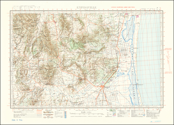 10-North Africa and World War II Map By Service Geographique de l'Armee  &  Institut Gé