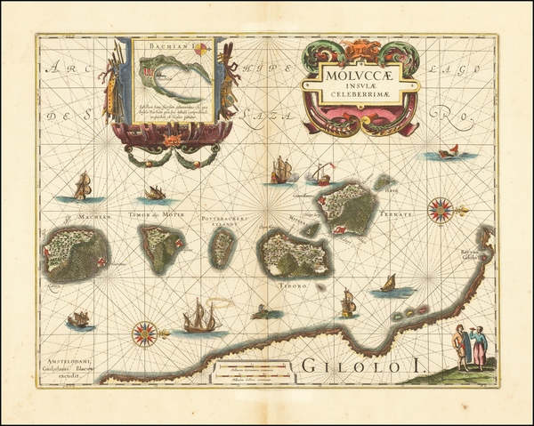37-Indonesia and Other Islands Map By Willem Janszoon Blaeu