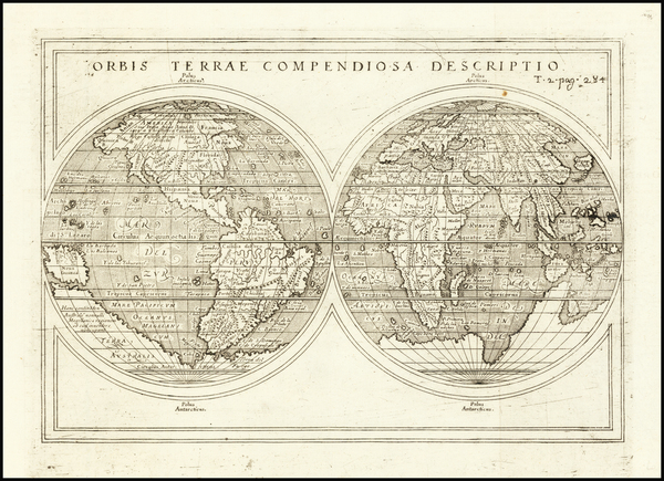 39-World Map By Giuseppe Rosaccio