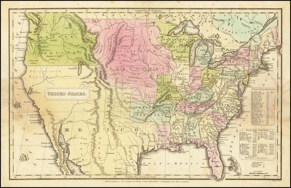 7-United States Map By Francis Junius Huntington  &  Hezekiah Huntington