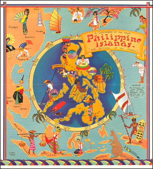 59-Philippines and Pictorial Maps Map By Ruth Taylor White