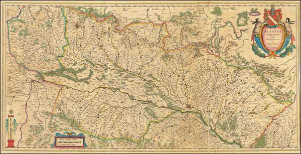 44-France and Germany Map By Willem Janszoon Blaeu