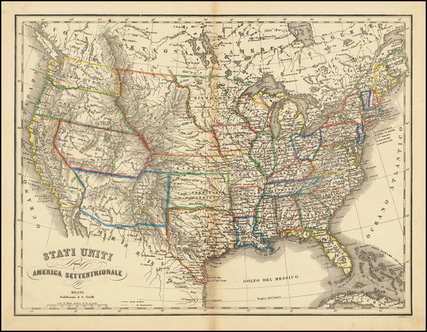 91-United States Map By G. Civelli