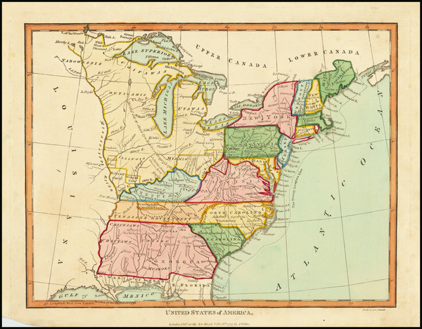 6-United States Map By Charles Wilkes