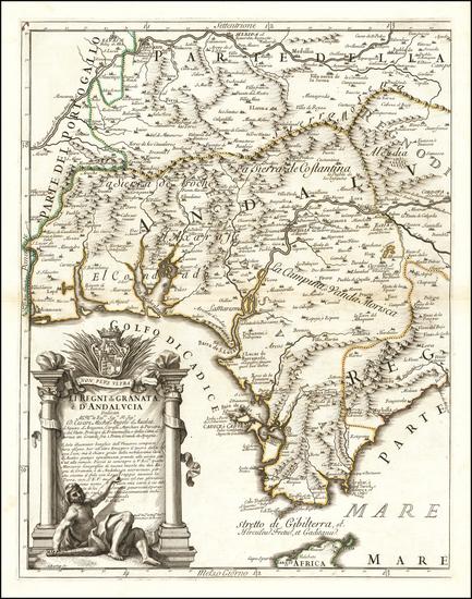 24-Spain Map By Giacomo Giovanni Rossi / Giacomo Cantelli da Vignola