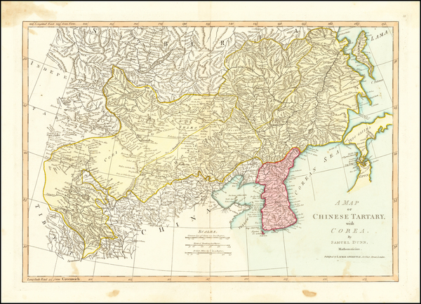 63-China, Korea and Central Asia & Caucasus Map By Samuel Dunn