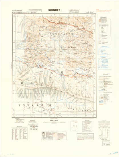 80-Persia and World War II Map By General Staff of the German Army