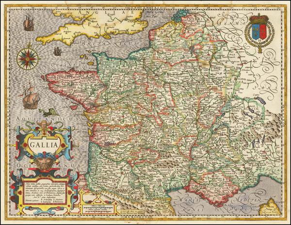12-France Map By Jodocus Hondius